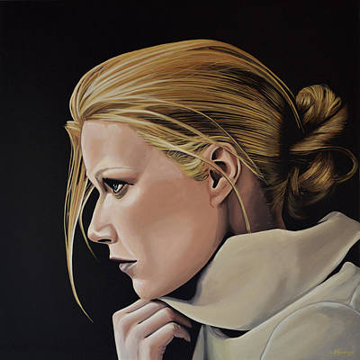 Gwyneth Paltrow Painting Print by Paul Meijering