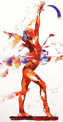 Lively Painting - Gymnast Four by Penny Warden