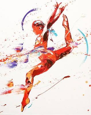 Gymnast Two Print by Penny Warden