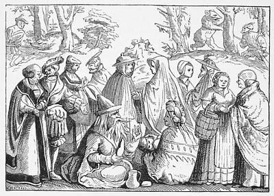 Gypsies Telling Fortunes Print by Granger
