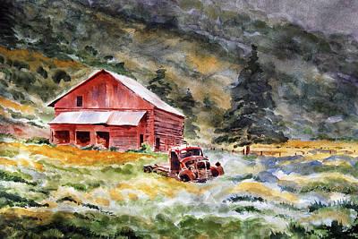 Gypsum Creek Barn Original by Brian Serff