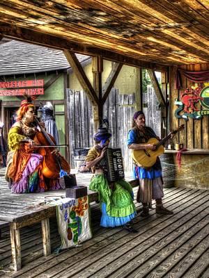 Gypsy Folk Band Crown Inn Print by John Straton