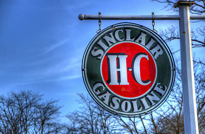 H-c Sinclair Gasoline Print by David Simons