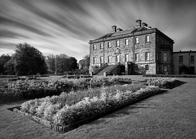 Black And White Old House Photograph - Haddo House by Dave Bowman
