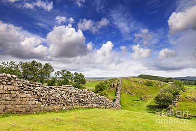 Roman Ruins Photograph - Hadrians Wall by Colin and Linda McKie
