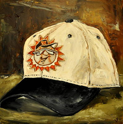 Minor League Painting - Hagerstown Suns by Lindsay Frost