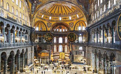 Religious Art Photograph - Hagia Sofia Interior 35 by Antony McAulay