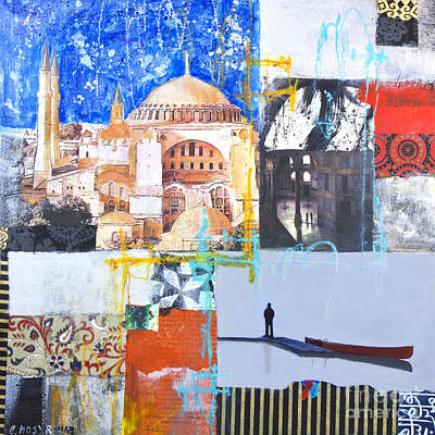 Turkey Mixed Media - Hagia Sophia Istanbul by Elena Nosyreva