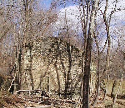 Hagy's Paper Mill Ruin  Print by Bill Cannon