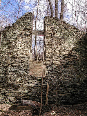 Hagy's Paper Mill Ruin - Interior Print by Bill Cannon