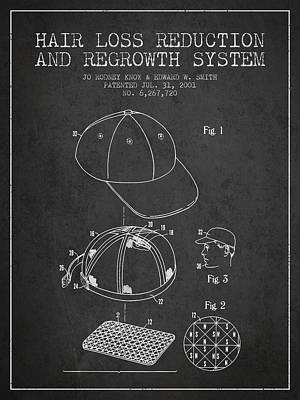 Baseball Art Drawing - Hair Loss Reduction And Regrowth System Patent - Charcoal by Aged Pixel