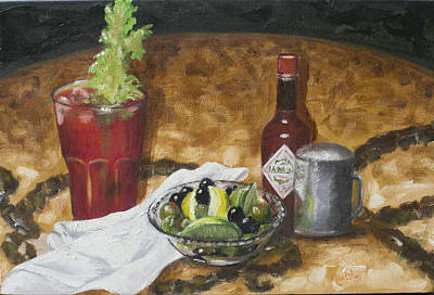 Bloody Mary Painting - Hair Of The Dog by Ruthe Dawes