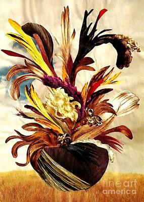 For Business Mixed Media - Hairflower Arrangement 2 by Sarah Loft