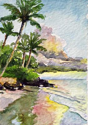 Haleiwa Painting - Halama Palms Maui by Stacy Vosberg