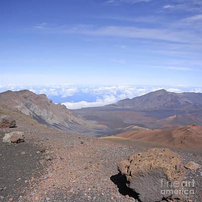 Rimrock Photograph - Haleakala  Summit Maui Hawaii  by Sharon Mau