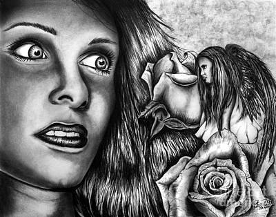 Dreamlike Drawing - Haleys Apparition by Peter Piatt