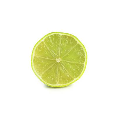 Lime Green Photograph - Half A Lime by Science Photo Library