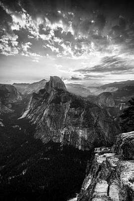 Half Dome In Black And White Print by Mike Lee