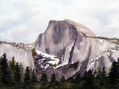 Yosemite Painting - Half Dome by Kari Raley