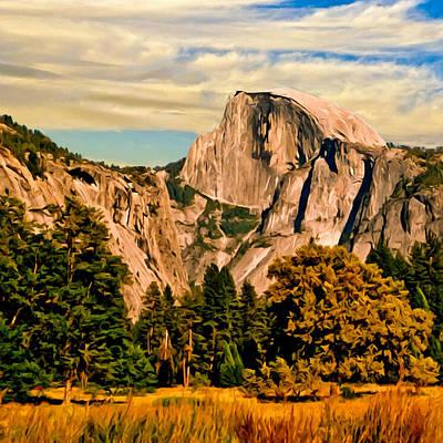 Yosemite Painting - Half Dome Painting by Bob and Nadine Johnston