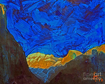 Yosemite National Park Mixed Media - Half Dome Sunset by Walter Fahmy