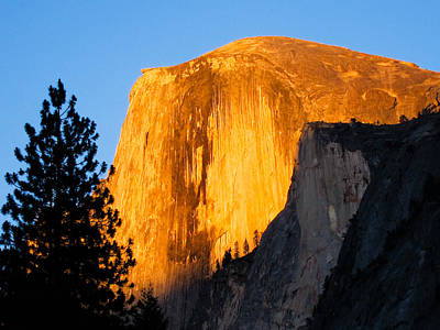 Half Dome Photograph - Half Dome Yosemite At Sunset by Shane Kelly