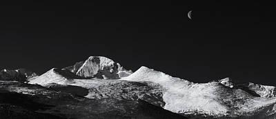 Half Moon Over Longs Peak Print by Darren  White