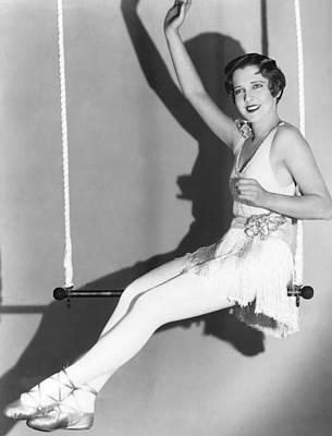 Trapeze Artist Photograph - Halfway To Heaven, Jean Arthur, 1929 by Everett