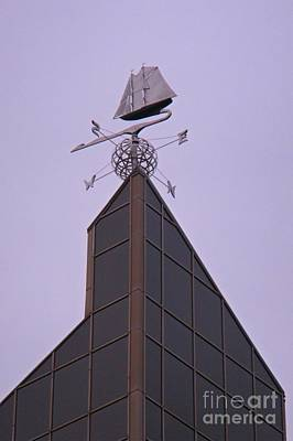 Halifax Trade And Convention Centre Weather Vane Print by John Malone Halifax graphic artist