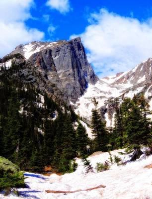 Hallett Peak Rocky Mountain National Park Print by Dan Sproul