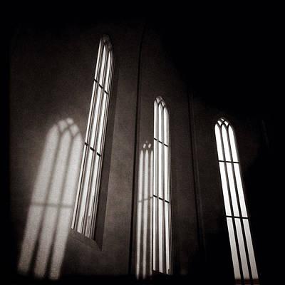 Hallgrimskirkja Windows Print by Dave Bowman