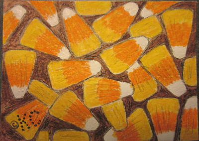 Halloween Candy Corn Print by Kathy Marrs Chandler