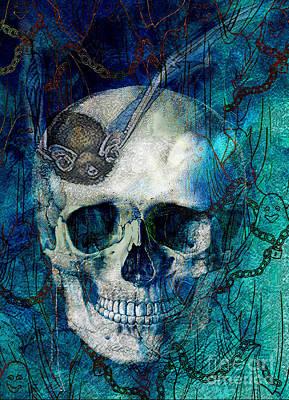 Skull Cards Mixed Media - Halloween Frights 3 by Tammera Malicki-Wong