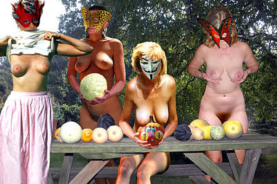 Nudes Photograph - Halloween Harvest Melons And  Squash by Broken  Soldier