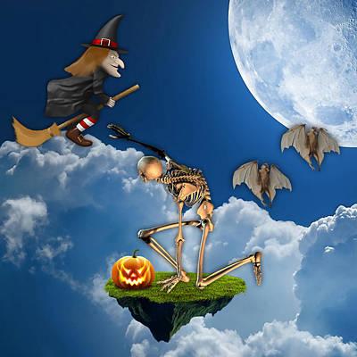 Halloween Print by Marvin Blaine