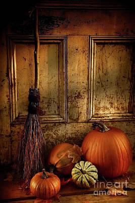 Halloween Night Print by Sandra Cunningham