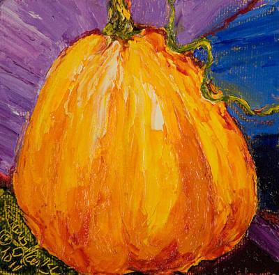 Halloween Orange Pumpkin Print by Paris Wyatt Llanso