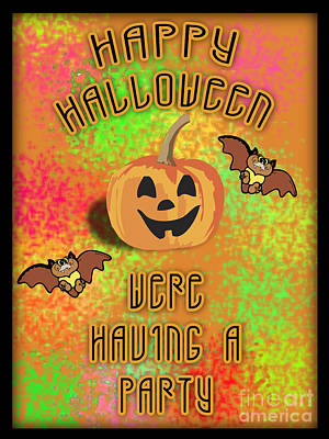 Halloween Party Invitation  Original by K D Graves