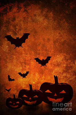 Halloween Card Pyrography - Halloween Pumpkins by Jelena Jovanovic