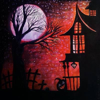 Halloween Retreat Original by Denisse Del Mar Guevara