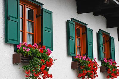Hallstatt Photograph - Hallstatt Windows by David Waldo