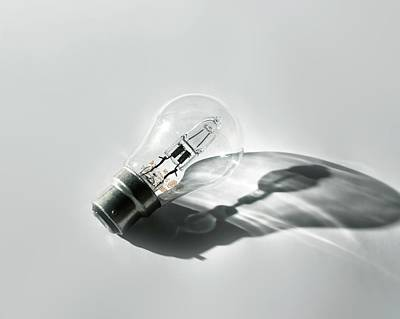 Halogen Energy Saving Light Print by Robert Brook