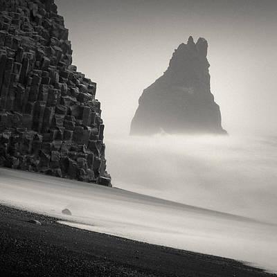 Basalt Photograph - Halsenifs Hellir Sea Stack by Dave Bowman