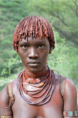 African People Photograph - Hamar Women With Freshly Applied Ochre by Tony Camacho