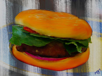 Hamburger Painting - Hamberger by Bruce Nutting