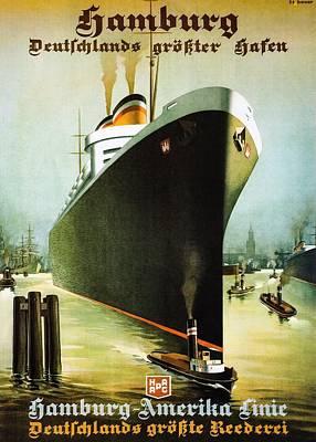Hamburg Digital Art - Hamburg-amerika Poster--the Albert Ballin by Unknown