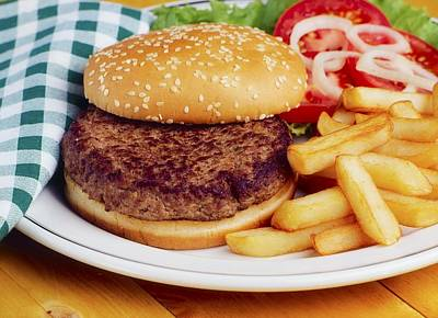 Hamburger & French Fries Print by The Irish Image Collection
