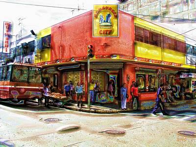 Hangout Digital Art - Hamburger Hangout by David Schneider