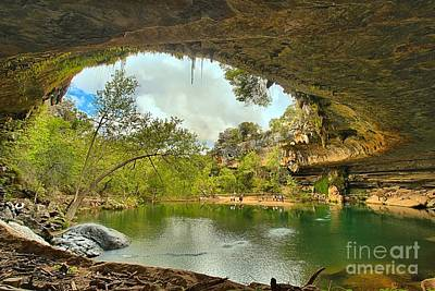 Hamilton Pool - Dripping Springs Texas Print by Adam Jewell