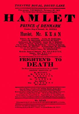 Stratford Mixed Media - Hamlet Playbill by Charlie Ross